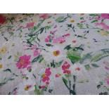 Tissu Lin - acacia - vert x 10cm