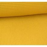 Tissu nid d'abeille - moutarde - x 10cm