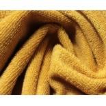 Tissu éponge - moutarde - x10cm