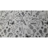Tissu à colorier - TROPIK - x 10cm