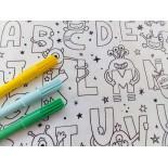 Tissu à colorier - DINO- x 10cm