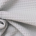 Tissu nid d'abeille - Blanc - x 10cm
