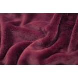 Tissu polaire Doudou - bordeaux - x10cm