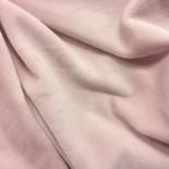 Tissu polaire Doudou - rose poudrée - x10cm