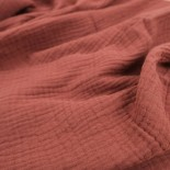 Double gaze coton - noir - x10cm