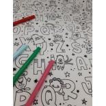 set de table à colorier - Alphabet