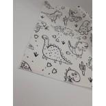 set de table à colorier - Dino