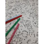 set de table à colorier - Fée lapin