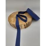 Ruban coton - 2.50cm - Bleu foncé