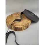 Ruban coton - 2.50cm - Gris foncé