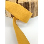 Ruban coton - 2.50cm - Jaune