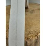 Ruban coton - 2.50cm - blanc