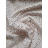 Tissu cretonne - JIAL BLANC VIOLINE - x10cm