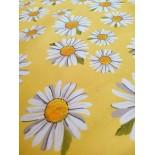 Tissu ameublement - Marguerite moutarde x10cm